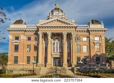 VALDOSTA, GEORGIA - JANUARY 17, 2015 : Lowndes County Courthouse in Valdosta.  It was added to the National Register of Historic Places on September 18, 1980.