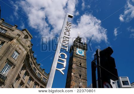 Glasgow's Merchant City Entrance Sign