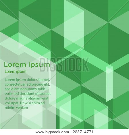 Abstract  background green and white  vector desing  illustion.