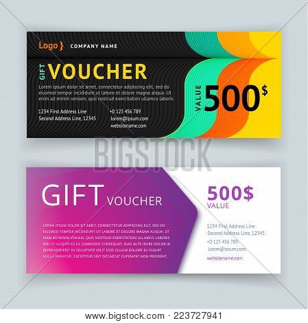 gift voucher template with pattern cute gift voucher certificate coupon design template - Cute Gift Certificate Template Free