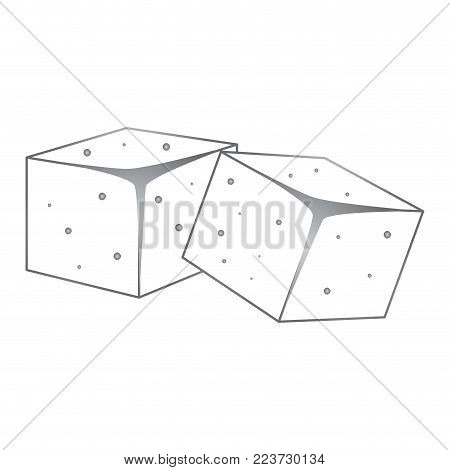 Isolated sugar cubes icon. Vector illustration design
