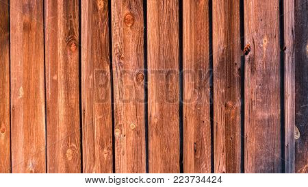 warm wooden planks texture as a wall