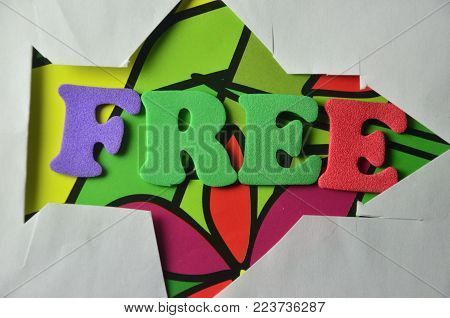 word free on an   abstract colored background
