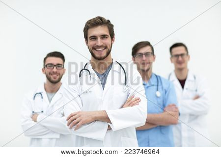 group of successful medical workers