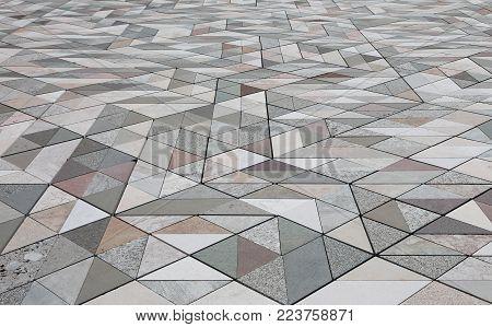 marble's stone on the floor of an ancient Italian church