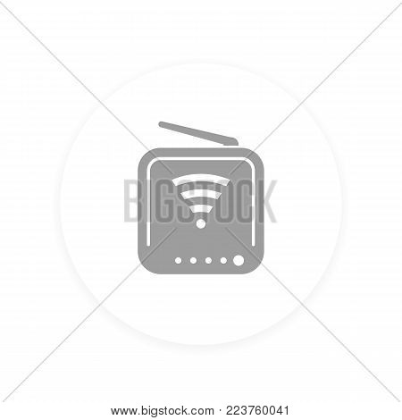 Router icon, vector pictogram, eps 10 file, easy to edit