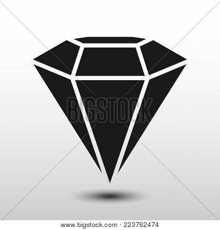 Diamond flat design. Diamond flat design Vector. Flat Icon diamond - stock vector