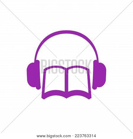 audiobook vector icon, eps 10 file, easy to edit
