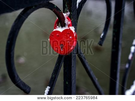 Wedding Castle Heart Shape On Bridge
