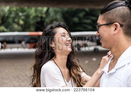 Romantic Asian Couple