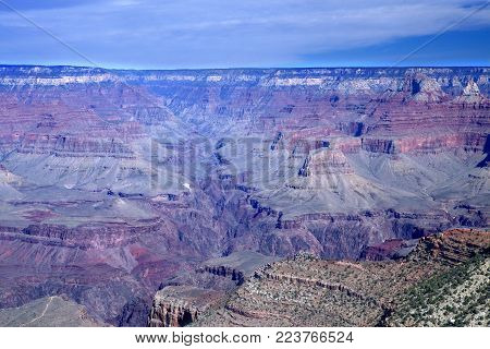 The South Rim of the Grand Canyon National Park in Arizona