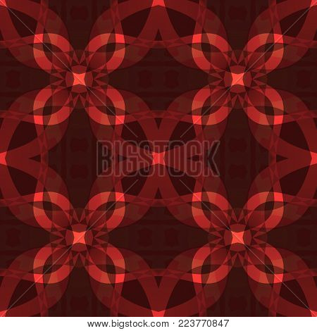 Dark red modern abstract texture. Seamless tile. Detailed background illustration. Textile print pattern. Home decor fabric design sample. Tileable motif for pillows, cushions, tablecloths, drapes