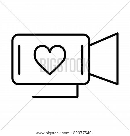 Movie Camera Heart Vector Photo Free Trial Bigstock
