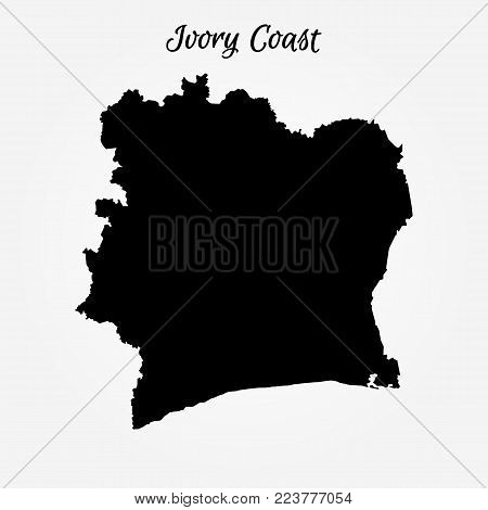 Map Of Ivory Coast. Vector Illustration. World Map
