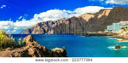 Impressive coast of Los Gigantes in Tenerife. Canary islands