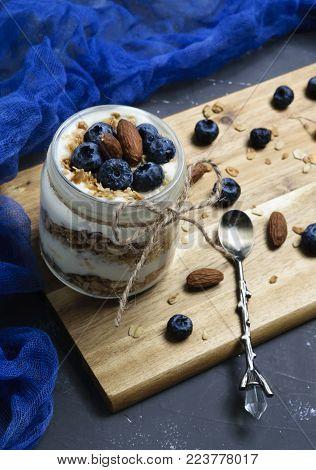 Yogurt Parfait With Blueberries And Granola
