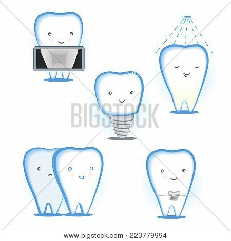 the illustration of the different services in the dental treatment