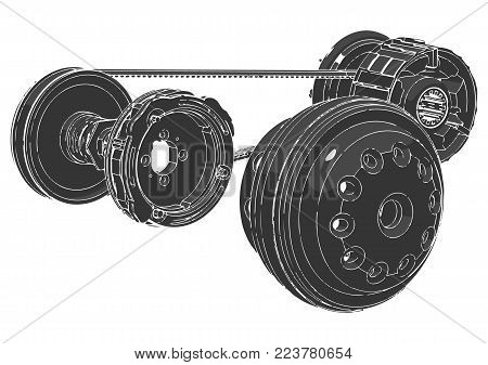 Belt gear on a white background, vector image