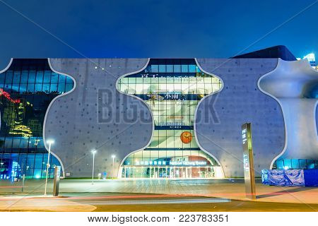 TAICHUNG, TAIWAN - JULY 17: This is the Taichung national theatre a famous building in the downtown area on July 17, 2017 in Taichung