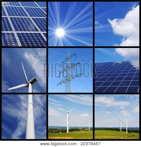Clean energy collage