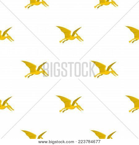 Yellow pterosaurs dinosaur pattern seamless for any design vector illustration