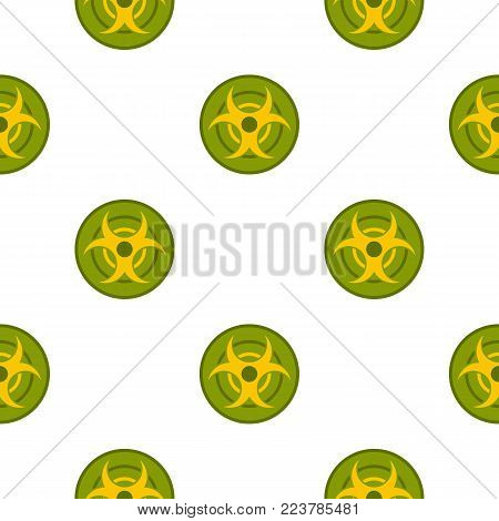 Biohazard symbol pattern seamless for any design vector illustration