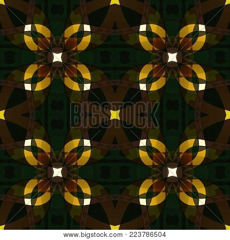 Dark brown modern abstract texture. Detailed background illustration. Seamless tile. Textile print pattern. Home decor fabric design sample. Tileable motif for pillows, cushions, tablecloths, drapes