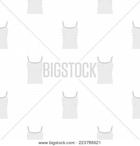 White woman tank top pattern seamless for any design vector illustration