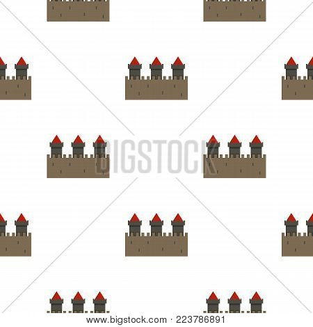 Medieval fortification pattern seamless for any design vector illustration