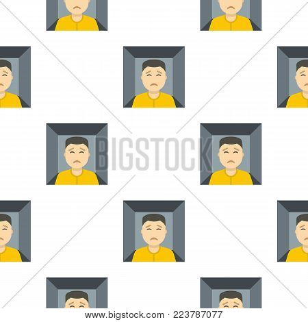 Man trapped in a box pattern seamless for any design vector illustration