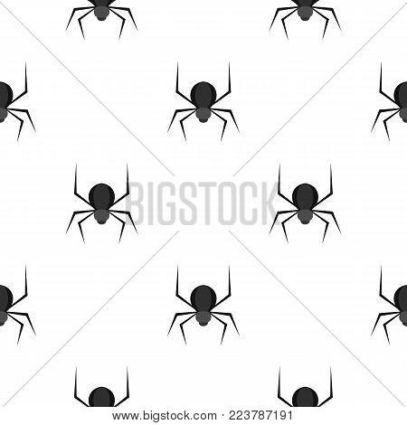 Black spider pattern seamless for any design vector illustration