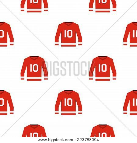 Red Canadian hockey jersey pattern seamless for any design vector illustration