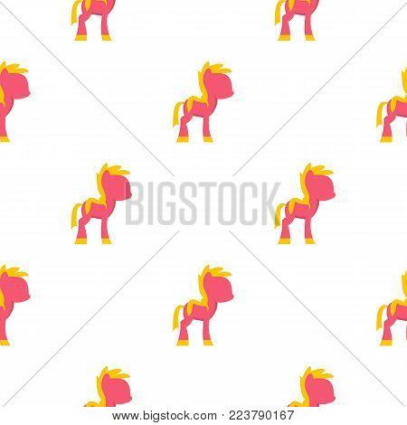 Little pony pattern seamless for any design vector illustration