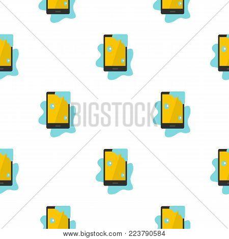 Wet phone pattern seamless for any design vector illustration