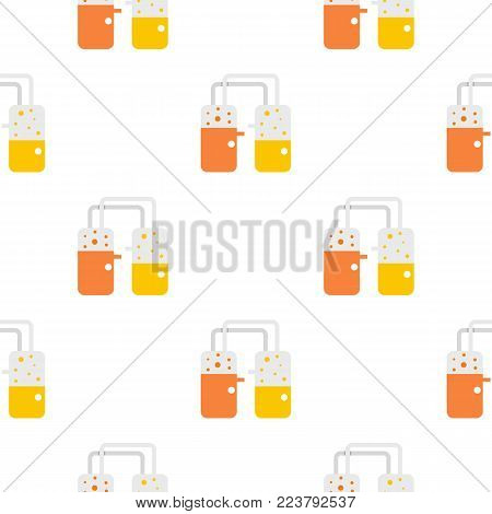 Transparent laboratory reservoirs with liquid pattern seamless for any design vector illustration