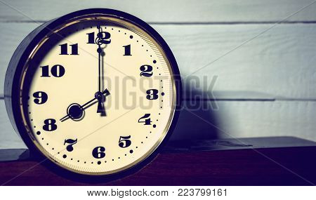 watch, vintage retro eight o'clock in the morning and evening time