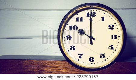 watch, vintage retro ten o'clock in the morning and evening time