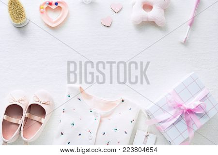 Baby shower gift option isolated on background