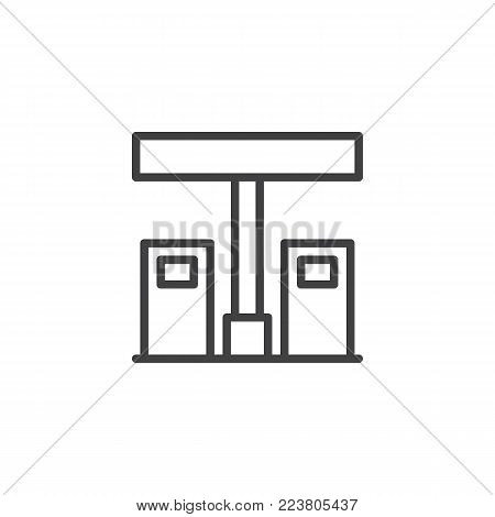 Gas Station Line Icon Vector Photo Free Trial Bigstock