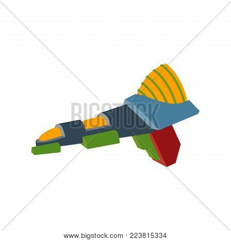 Space Blaster. Futuristic laser weapons. A fanstic gun. Vector illustration in a cartoon style.