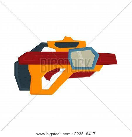 Futuristic weapons. Space blasters. Ski - Fi shotguns for shooting in space. Vector illustration .