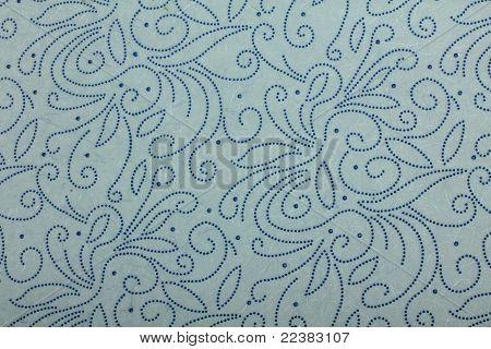 light blue handmade art paper with dotten pattern