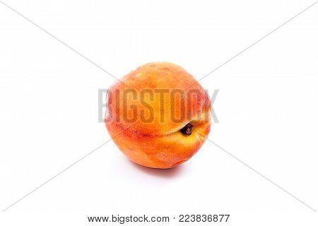 Half And Sliced Honeydew Melon Fruit On Dark Marble Background..