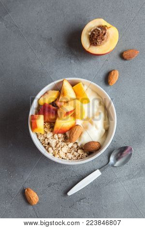 Oatmeal And Fruit Breakfast Bowl