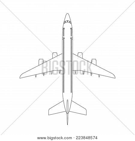 Airplane Top View Vector Photo Free Trial