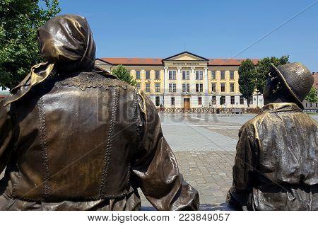 Alba Iulia, Romania, July 22, 2017: Interior of citadel, Alba Iulia,Transylvania,Romania