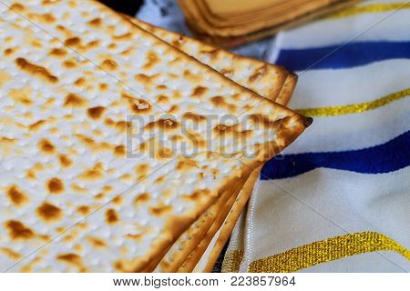 Jewish holiday Pesah Passover with matza Perfect for your Passover design.