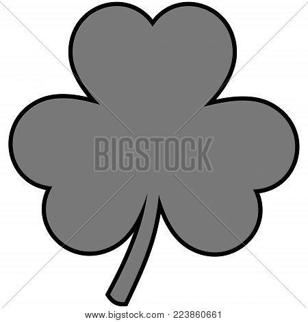 Clover Sign Illustration - A vector cartoon illustration of a Irish Clover sign.