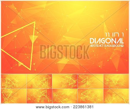 Polygonal line and low poly abstract background. Suitable for web background and design element