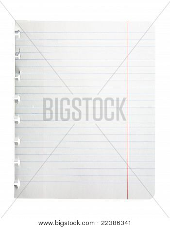 Single Notepad Page